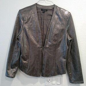 Trouve Silver Blazer size Large